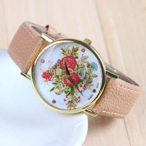 "Часы Geneva ""Scarlet Rose Bunch"" - Beige"