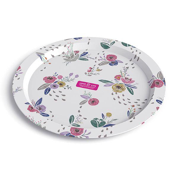 "Дизайнерская тарелка ""Love & Life"" - Pink"