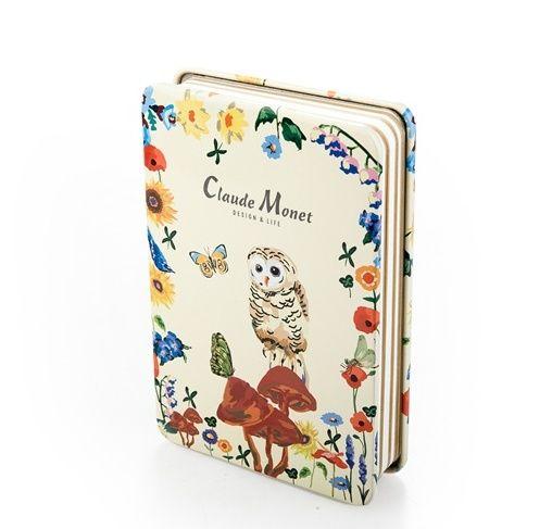 """Креативбук в металлической обложке """"Owl"""" - White"""