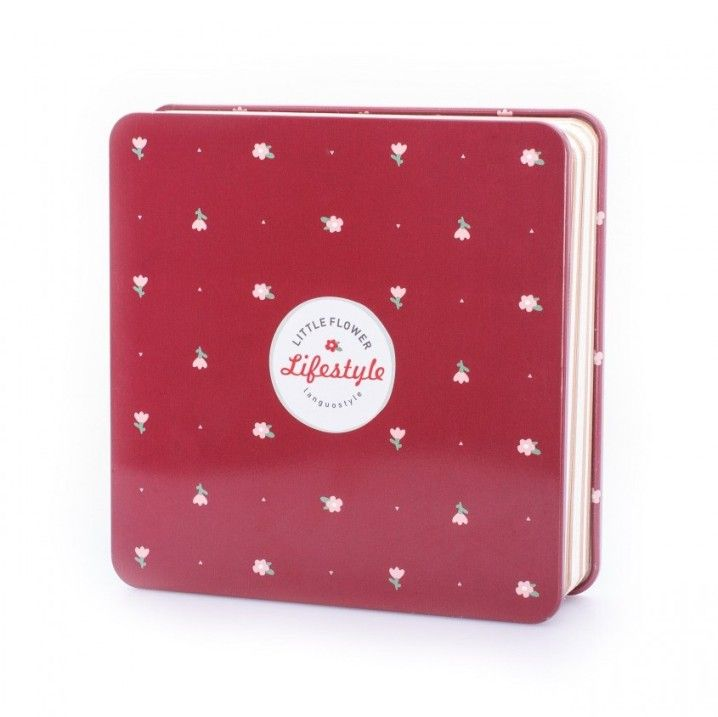 Креативбук с жестяной обложкой «Little Flower» - Red