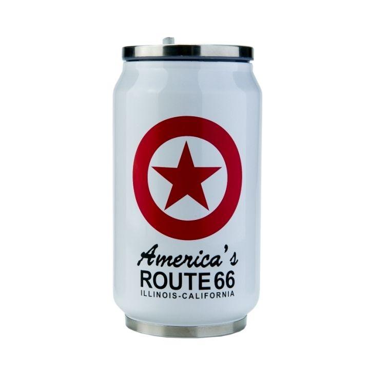 Термокружка 350 мл «Route 66» - White