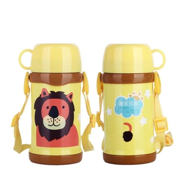 Детский термос с кружкой и ремешком «Lion»