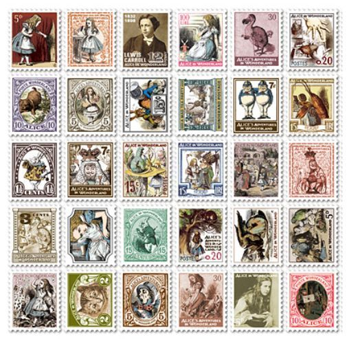 "Набор наклеек ""Stamp Sticker"" - Alice"