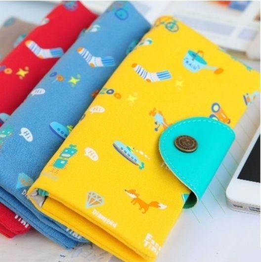 """Текстильный кошелек """"Colorful Items"""" (разные цвета)"""