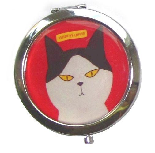 "Двойное карманное зеркало ""Cat Family"" - Red"