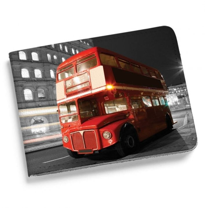 Кошелек мини из натуральной кожи «London Bus»