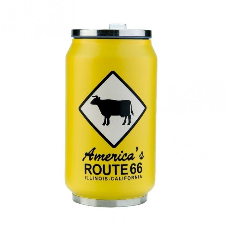 Термокружка 350 мл «Route 66» - Yellow