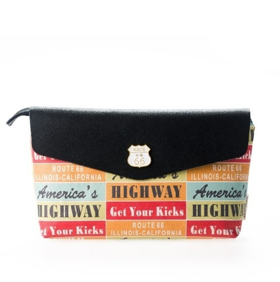 Большая косметичка «Route 66» - Black